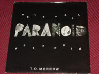"T.o.morrow:  Paranoid   7""  1984  EX+ synth wave rarity"
