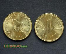 Mazedonien Macedonia Münzen 1 Denar 2016 UNC COIN CURRENCY EUROPA