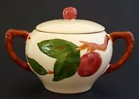 Franciscan Apple Sugar Bowl Made In England Covered Hand Painted