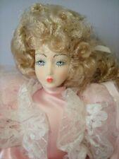 BAMBOLA IN PORCELLANA CAPODIMONTE CM 55 porcellain doll Italy idea regalo