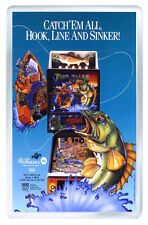 FISH TALES PINBALL FRIDGE MAGNET IMAN NEVERA