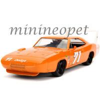JADA 31453 BIGTIME 1969 DODGE CHARGER DAYTONA 1/24 DIECAST MODEL CAR #71 ORANGE