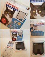 "Cat Mate 4-Way Locking Cat Flap 7.625""W x 7.875""H Weather Draft Proof NEW"