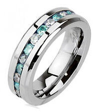 Stainless Steel Eternity Ring with CZ Size 8