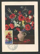 SAN MARINO MK 1958 FLORA KLATSCHMOHN MAXIMUMKARTE CARTE MAXIMUM CARD MC CM d8077