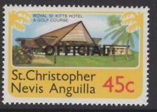ST. Kitts-Nevis SGO4w 1980 45c definitive WMK corona a sinistra di ca Gomma integra, non linguellato