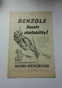 National Benzole Advert from 1955 - Original Ad Advertisement