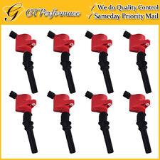 Performance Ignition Coil 8PCS for Ford E-150 250 350 450/ Town Car V8 V10 Red