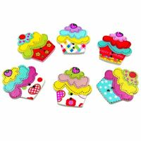 Cupcake craft embellishments, Cupcake buttons for sewing or crafting, cake gifts