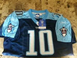Vince Young #10 Titans Reebok NFL On Field Mens Blue Jersey Size 52 XXL NWT