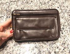 Cole Haan Brown Leather Zip Crossbody Waist Belt Bag
