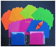 "140 sheets Origami Paper Lucky Crane Bird DIY Folding Kit Reflective Colors 1.5"""