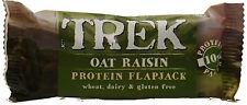 16 X Trek avena con pasas de uva de proteína de Flapjack bares 50g ** libre de gluten **