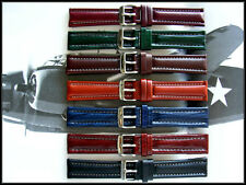 19mm Wine Bomber Pilot Aviator Military leather watchband IW SUISSE 18-20-22 usa