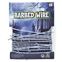 3.7m Of Fake Barbed Wire - Halloween Fancy Dress Party Silver Decoration String