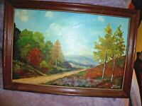 """FRAMED Ben Kersens OIL PAINTING Fall Mountain Landscape 19"""" X 13"""" New Hampshire"""