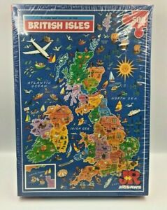 JR Jigsaws Picture Map Puzzle of the  British Isles 500 Large Piece