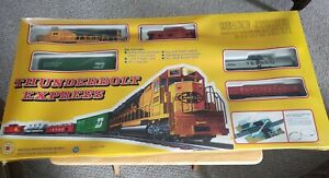 Vintage Mehano Thunderbolt Express T 340 Train Set HO IHC Texaco Train. Sealed.