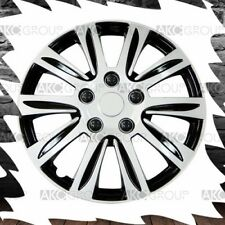 """Set of 4 Silver Label Premium Wheel Cover Finish ABS Hubcap For 15"""" Wheel"""