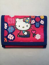 Sanrio Smiles 2003 Hello Kitty Flower Power Nylon Tri-Fold Wallet New W/O Tag