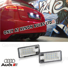 *2 x AUDI A3 04-12 NUMBER PLATE UNIT LED CANBUS ERROR FREE Module resistor can