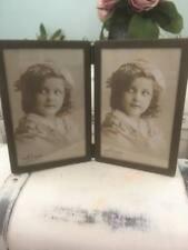 Vintage  Industrial Chic Look Metal Double Portrait Photo Frame