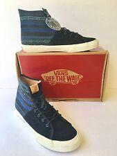 Vans Size 11.5 Blue Black Shoes SK8 Hi-Decon Italian Weave Men's Classic Skate