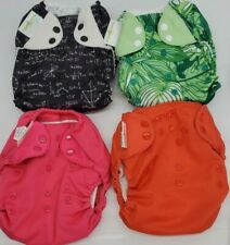 Bumgenius Lot Of  4 All In One Pocket Style One Size Girl's Snap Buttons