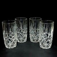 4 (Four) GORHAM LADY ANNE Heavy Lead Crystal Highball Glasses DISCONTINUED
