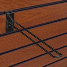 Box of 25 New Retail Black 8 inch Slatwall Safety Peg Hooks