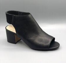 """New Clarks """"Orge Charme"""" Femmes en Cuir Noir Bout Ouvert Sandales UK 3.5 D"""