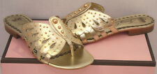 NIB Womens JUICY COUTURE Gold Sandals Size 7.5