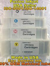 compatible 4 pc Epson SureColor s30670 s50670 eco solvent ink cartridge inkjet s