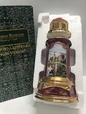 Thomas Kinkade Porcelain Nightlight Lamp Victorian Lighthouse Painter Light 2004