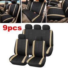 9X Car Seat Covers Protectors Full Set Front & Rear For Interior Accessories