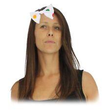 One Size Elasticated Polka Dot Hair Bow Blush Bear Children in need CIN