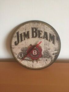 Mancave / Home bar, pub clock -  Jim Beam