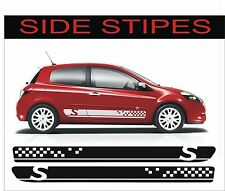 Renault clio sport side stripe kit decals stickers any colour