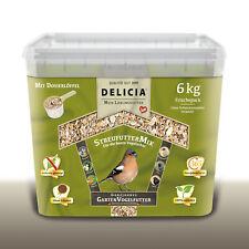 DELICIA 6 kg Classico Ganzjahres Garten Vogelfutter | StreufutterMix