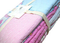 Pottery Barn Kids Multi Colors Pink Pacific Surf Cotton Full Queen Quilt New
