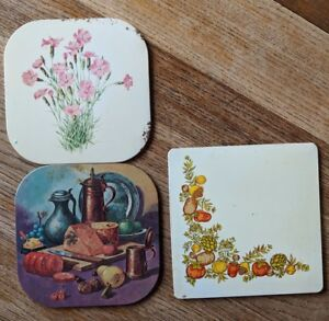 Lot of 3 Vintage Trivets Kitchen Hot Pads  kitschy flea market farmhouse