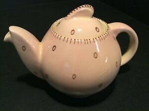 SUSIE COOPER  RARE PINK ART DECO KESTREL SHAPE TEA FOR TWO TEAPOT EXCELLENT!!