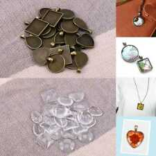 48X Cabochon Cameo Base Tray Setting Bezel Blank Fit DIY Jewelry Making AU Stock