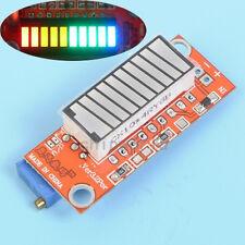 4-color Battery Level Capacity Indicator Module Tester 10 LED Display Meter V3.2