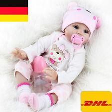 DE 55cm reborn Baby Puppe Lebensecht Handgefertigt Weich Silikon-Vinyl Mädchen