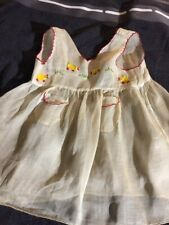 ANTIQUE cotton dress for FRENCH doll Jumeau Steiner size