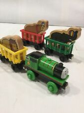 Thomas The Train Wooden Percy & Circus Cars With 3 Animals Lot