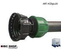 """RACCORDO  PER CISTERNA  USCITA  3/4"""" + RACCORDO COMPRESSIONE TUBO 25 mm KCDgiu25"""