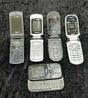 Lot of 5 Cell Phone Lot Untested AS IS For Parts or Repair LG Flip Phones