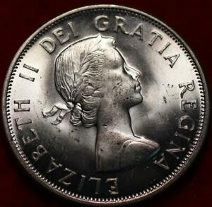 Uncirculated 1962 Canada 50 Cents Silver Foreign Coin